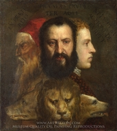 Allegory of Prudence painting reproduction, Titian