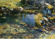 Alpine Pool painting reproduction, John Singer Sargent