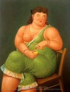 Amalia painting reproduction, Fernando Botero