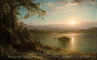 Amanecer en el tropico painting reproduction, Frederic Edwin Church