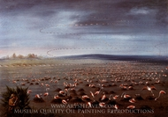 Ambush for Flamingoes painting reproduction, George Catlin