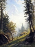 Among the Bernese Alps painting reproduction, Albert Bierstadt
