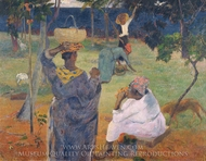Among the Mangoes at Martinique painting reproduction, Paul Gauguin