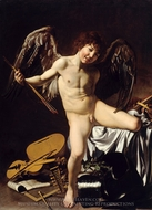 Amor Victorious painting reproduction, Caravaggio