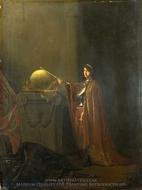 An Allegorical Subject (The Just Ruler) painting reproduction, Willem De Poorter