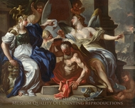 An Allegory of Louis XIV painting reproduction, Francesco Solimena