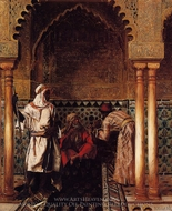 An Arab Sage painting reproduction, Rudolph Ernst