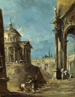 An Architectural Caprice painting reproduction, Francesco Guardi