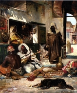 An Arms Merchant In Tangiers painting reproduction, Tornai Gyula