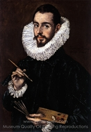 An Artist painting reproduction, El Greco