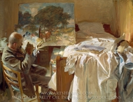 An Artist in His Studio painting reproduction, John Singer Sargent