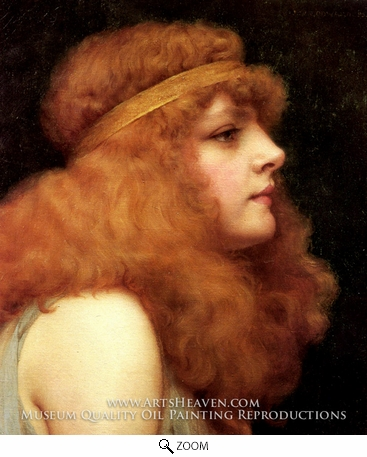 Painting Reproduction of An Auburn Beauty, John William Godward