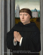 An Augustinian Friar Praying by Gerard David