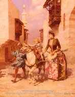 An Exotic Pony Ride painting reproduction, Ludovico Marchetti
