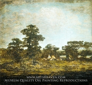 An Indian Encampment painting reproduction, Ralph Albert Blakelock