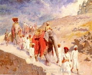 An Indian Hunting Party painting reproduction, Edwin Lord Weeks