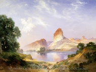 An Indian Paradise (Green River, Wyoming) painting reproduction, Thomas Moran