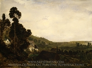 An Old Chapel in a Valley painting reproduction, Theodore Rousseau