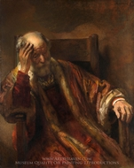 An Old Man in an Armchair painting reproduction, Rembrandt Van Rijn