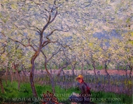 An Orchard in Spring painting reproduction, Claude Monet