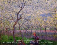 An Orchard in Spring by Claude Monet