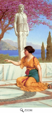 Painting Reproduction of Ancient Pastimes, John William Godward