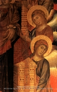Angels from the Santa Trinita Altarpiece painting reproduction, Giovanni Cimabue