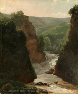 Aniene River at Tivoli painting reproduction, Simon Denis