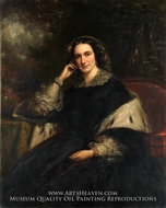 Anna Watson Stuart painting reproduction, Daniel Huntington