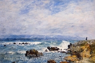 Antibes, the Point of the Islet by Eugene-Louis Boudin