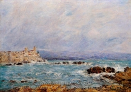 Antibes, the Rocks of the Islet painting reproduction, Eugene-Louis Boudin
