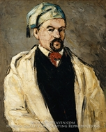 Antoine Dominique Sauveur Aubert, the Artist's Uncle painting reproduction, Paul Cezanne