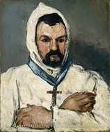 Antoine Dominique Sauveur Aubert, the Artist's Uncle, as a Monk painting reproduction, Paul Cezanne