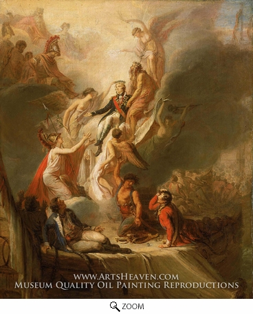 Painting Reproduction of Apotheosis of Nelson, Scott Pierre Nicolas Legrand