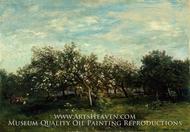 Apple Blossoms by Charles Daubigny