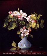 Apple Blossoms in a Vase painting reproduction, Martin Johnson Heade