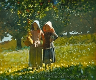 Apple Picking painting reproduction, Winslow Homer