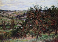 Apple Trees in Bloom at Vetheuil painting reproduction, Claude Monet