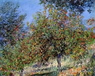 Apple Trees on the Chantemesle Hill by Claude Monet