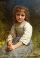 Apples (Les pommes) painting reproduction, William Adolphe Bouguereau