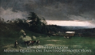 Approaching Storm painting reproduction, William Keith