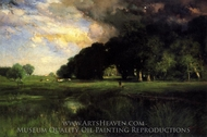Approaching Storm painting reproduction, Thomas Moran