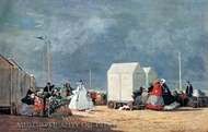 Approaching Storm painting reproduction, Eugene-Louis Boudin
