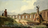 Aqueduct in Ruins painting reproduction, Hubert Robert