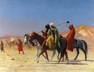 Arabs Crossing the Desert painting reproduction, Jean-Leon Gerome