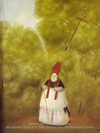 Archbishop Lost in the Woods painting reproduction, Fernando Botero