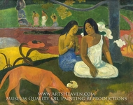 Arearea (Happiness) painting reproduction, Paul Gauguin