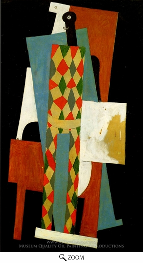 Painting Reproduction of Arlequin, Pablo Picasso (inspired by)