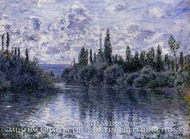 Arm of the Seine near Vetheuil by Claude Monet