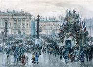 Armistice Day, Paris painting reproduction, Frank Myers Boggs